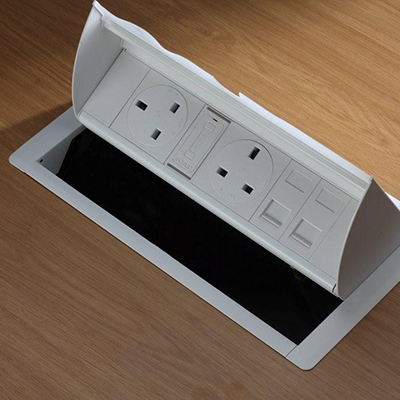 Desk Power and Data Outlets