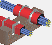 Fire Stop Cable Transit Duct